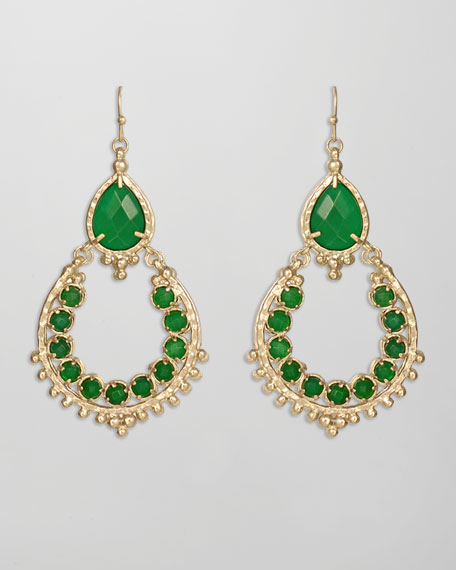 Gaia Earrings, Green