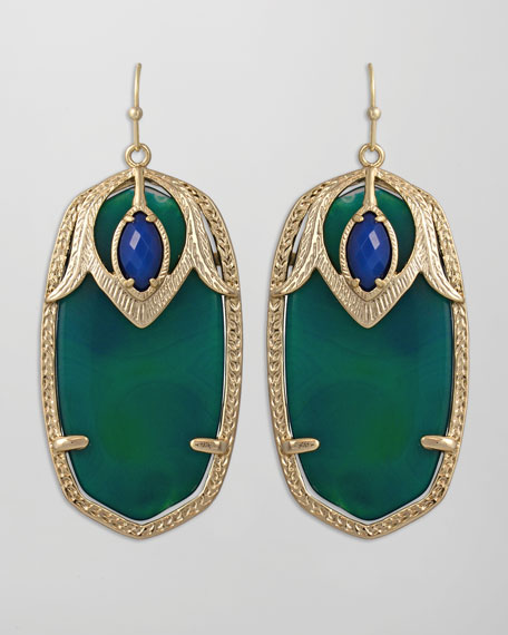 Darby Peacock Earrings