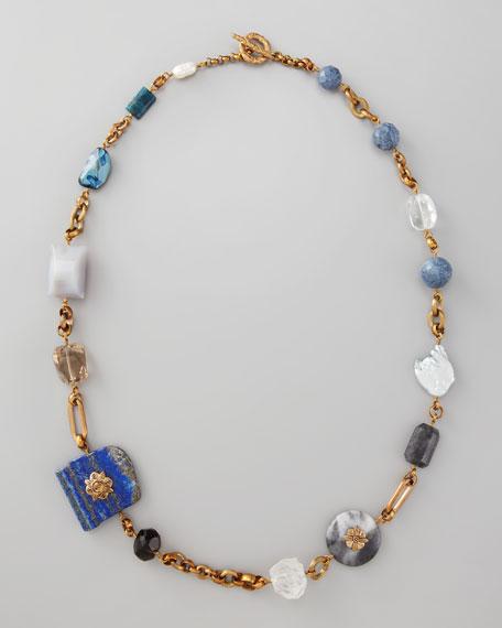 """Multi-Stone Necklace, 37""""L"""