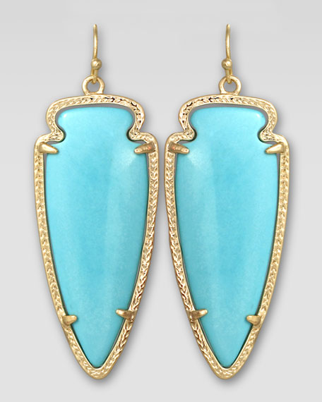 Skylar Arrow Earrings, Turquoise