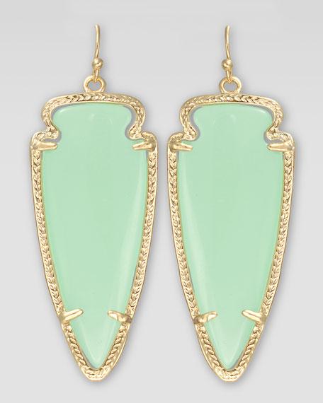 Skylar Arrow Earrings, Chalcedony