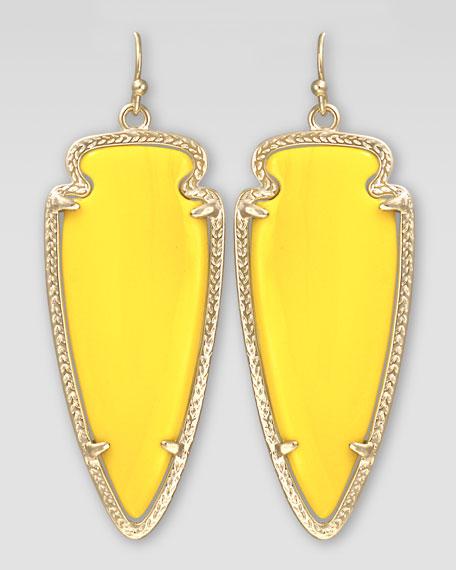 Skylar Arrow Earrings, Yellow