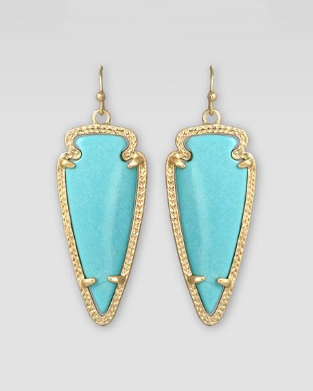 Small Sky Arrow Earrings, Turquoise
