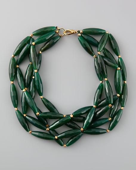 Agate Multi-Strand Necklace