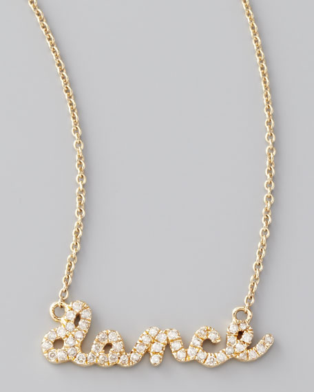 Diamond Dance Necklace, Yellow Gold