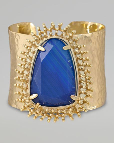 Lande Cuff, Blue Agate