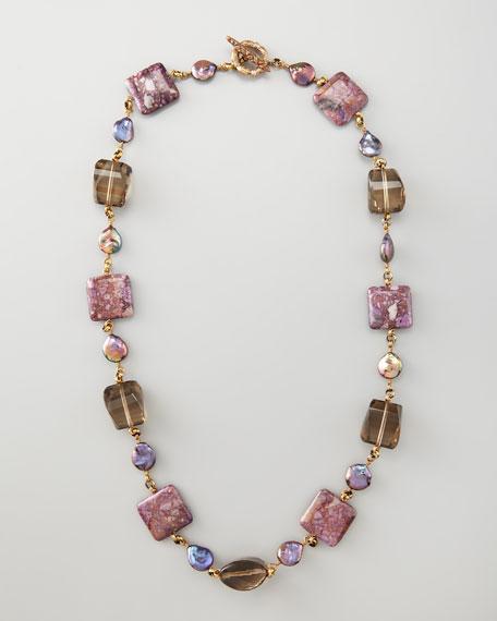 Single Strand Multi-Stone Necklace