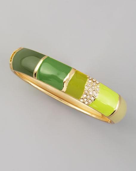 Medium Colorblock Bangle, Green