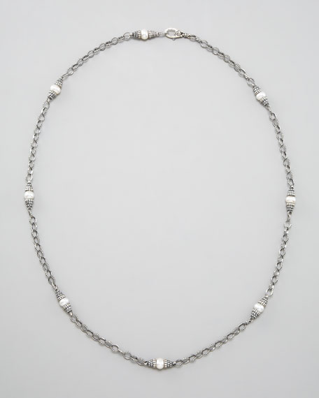 Luna Pearl-Link Necklace