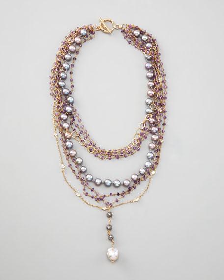 Multi-Strand Y-Drop Necklace