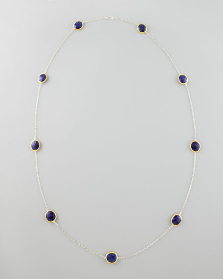 "Lapis By-the-Yard Necklace, 39""L"
