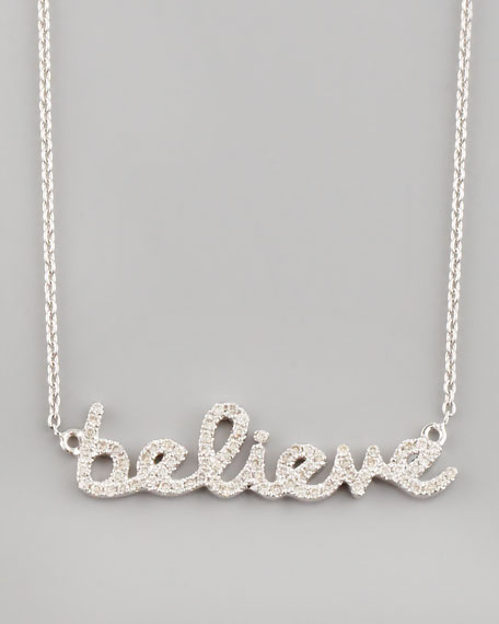 Diamond Believe Necklace, White Gold