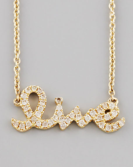 Diamond Live Necklace, Yellow Gold