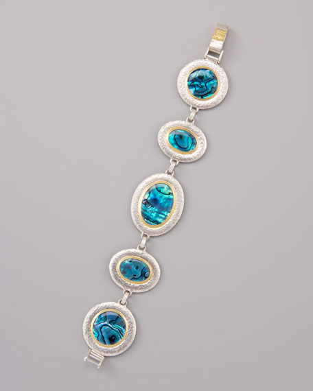 Paua Shell Station Bracelet