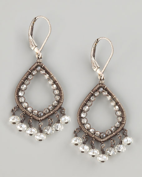 Crystal Teardrop Earrings, Small