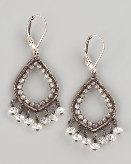 Crystal Teardrop Earrings, Small