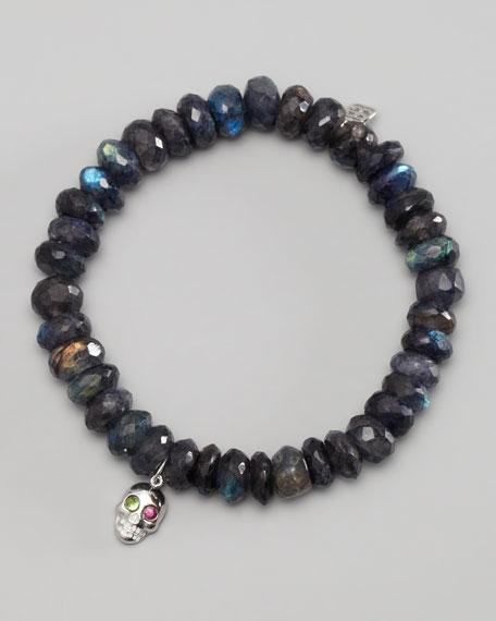 Skull-Charm Beaded Bracelet