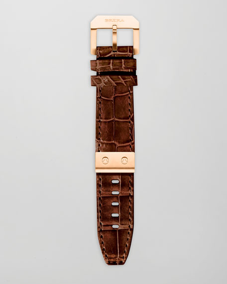 Alligator Watch Strap, Brown