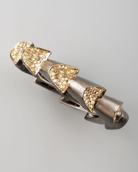 Bel Air Gunmetal Sculptural Bracelet
