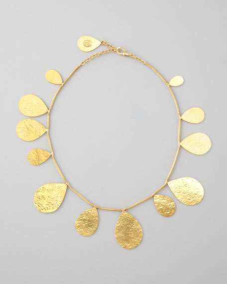 Gold Teardrops Necklace