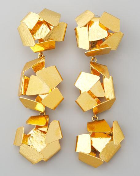 Explosive-Ball Drop Clip Earrings