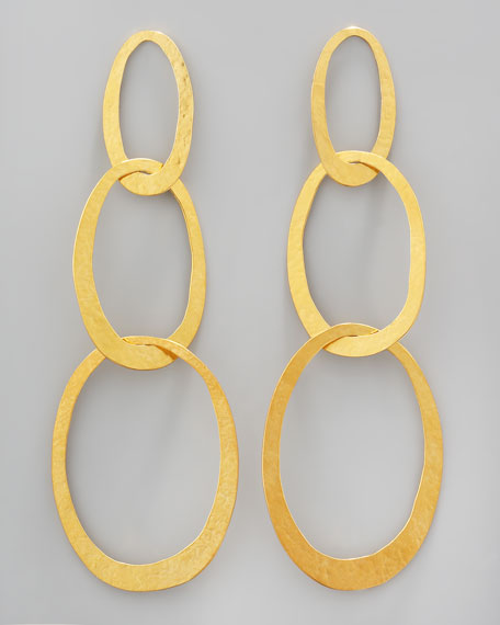 Three-Link Drop Earrings