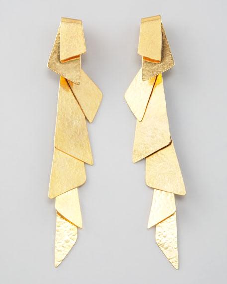 Gold Fold-Over Clip Earrings