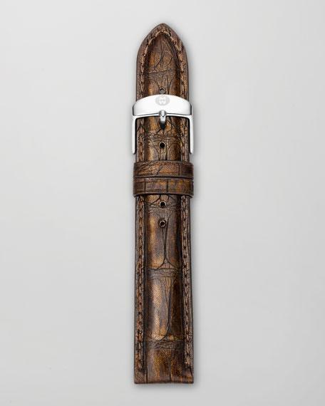 18mm Alligator Watch Strap, Brown