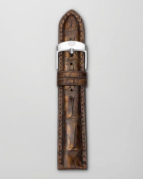 20mm Alligator Watch Strap, Brown