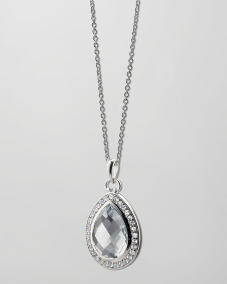 Rock Crystal Teardrop Necklace