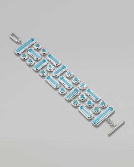 Blue Topaz Triple-Row Bracelet