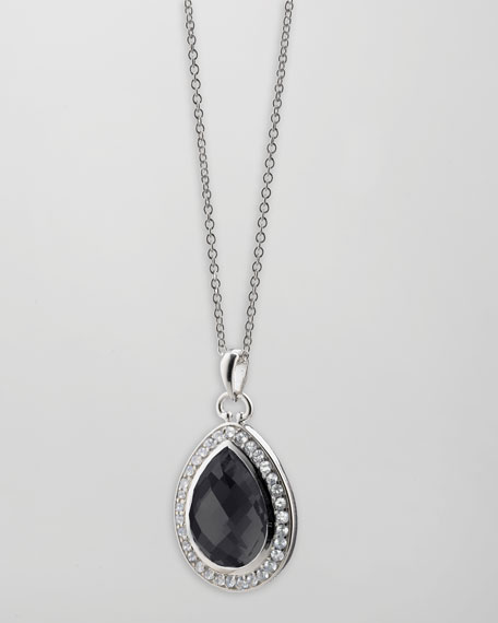 Black Onyx Teardrop Necklace