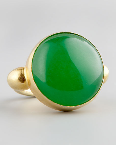 Green Jade Gold Ring