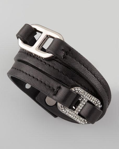 Pave Plato Link Bracelet, Black