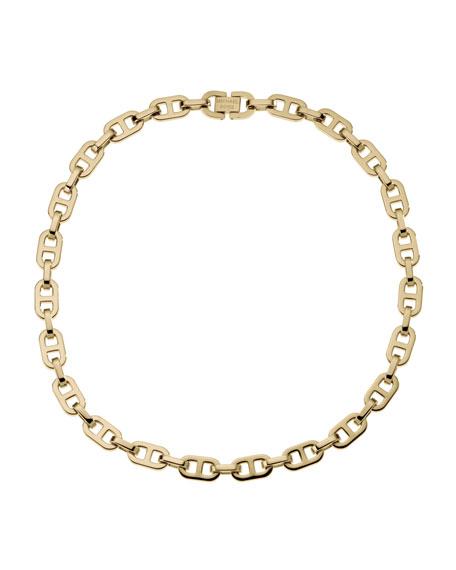 Short Link Necklace, Golden