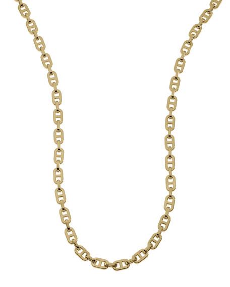 Long Link Necklace, Golden