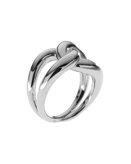 Love Knot Ring, Silver Color