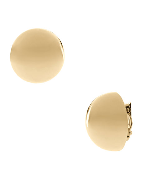 Ball Clip Earrings, Golden