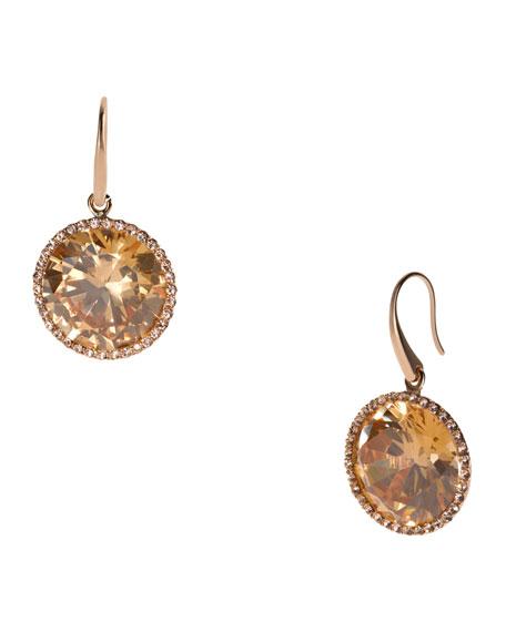 Crystal Drop Earrings, Rose Golden