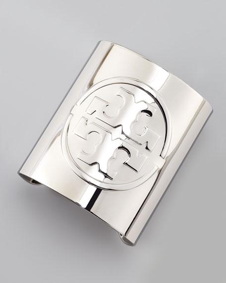 Metal Logo Cuff, Silvertone