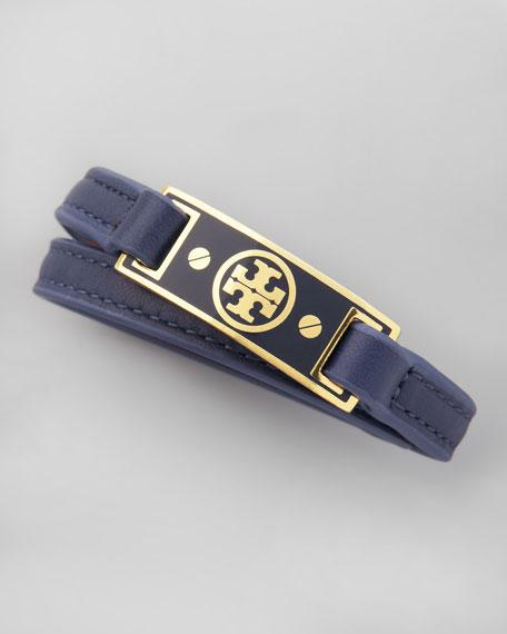 Logo Wrap Bracelet, Blue