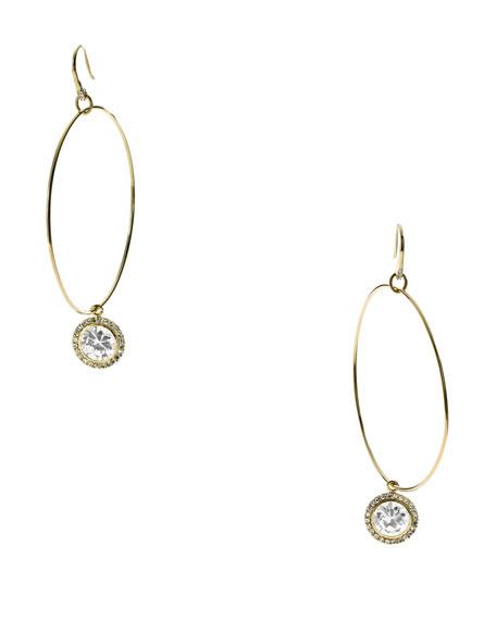 Hoop With Drop Earrings, Golden