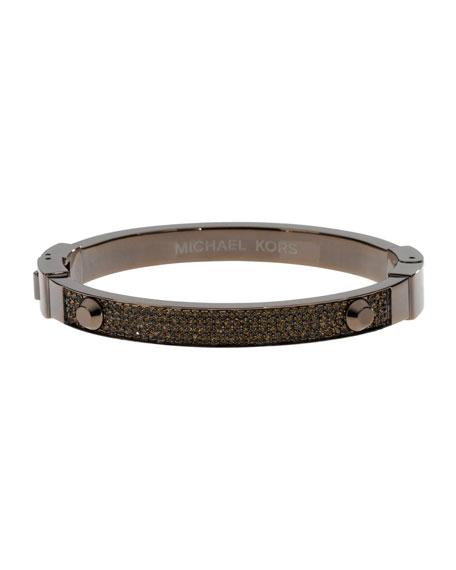 Pave Hinge Bracelet, Espresso