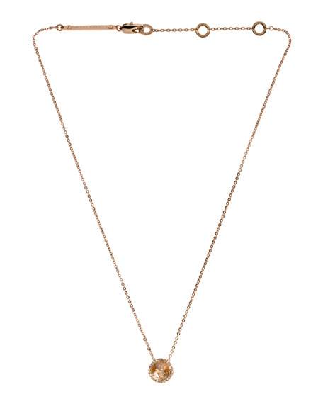 Pendant Necklace, Rose Golden