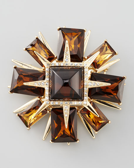 Deco Star Brooch