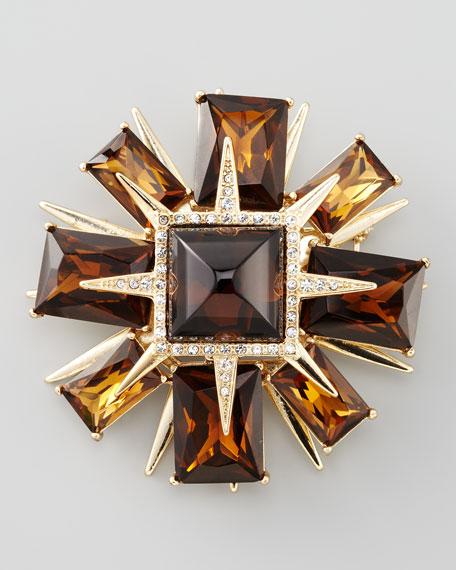 Deco Star Brooch
