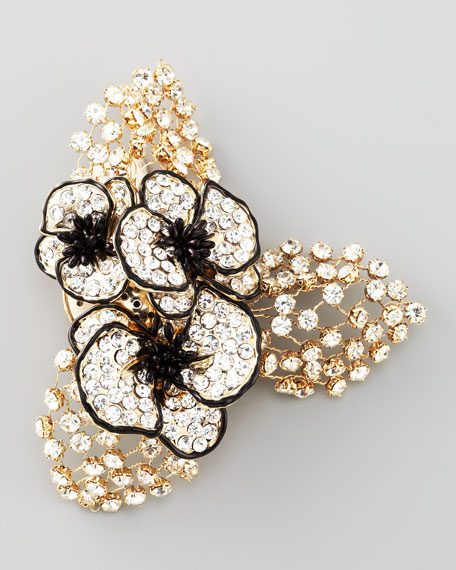 Crystal-Flower Brooch