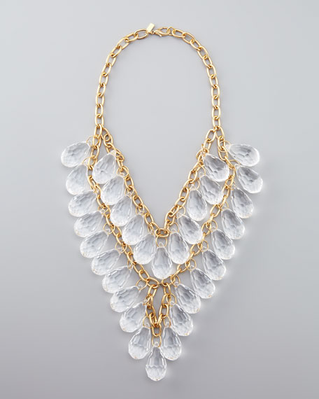 Teardrop-Beaded Statement Necklace