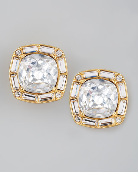 on the town crystal stud earrings