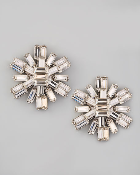 electric gardens crystal stud earrings
